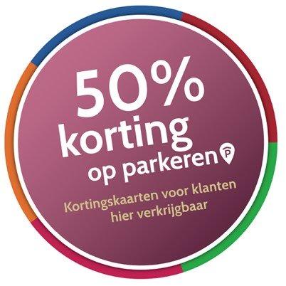 Ontvang 50% korting op parkeren in Oostpoort!